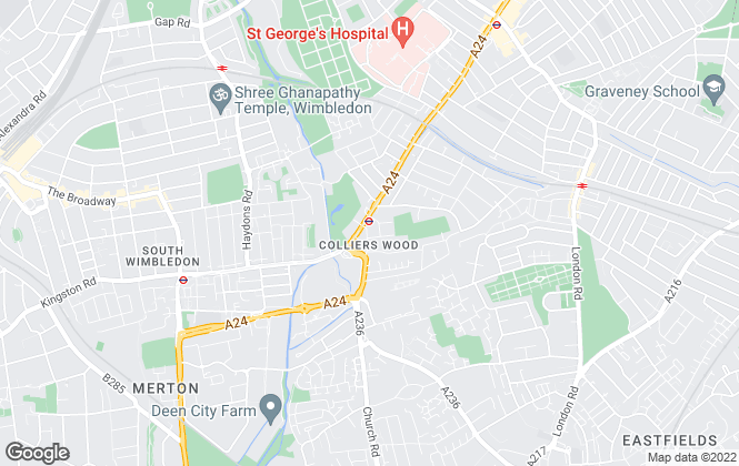 Map for eddisonwhite, Colliers Wood