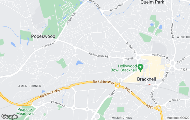 Map for Bruton Solutions, Bracknell