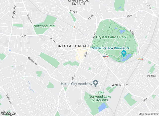 Map for Acorn, Crystal Palace