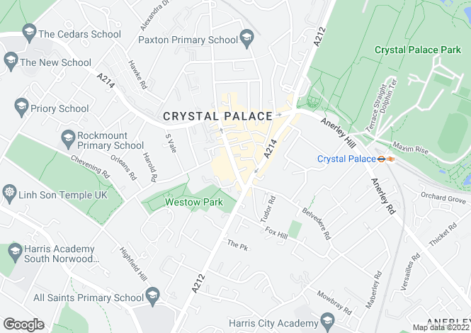 Map for Victory Place,  Crystal Palace