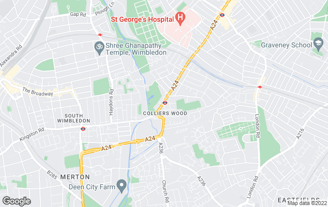 Map for Ellisons, Colliers Wood