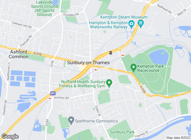 Map for Townends, Sunbury
