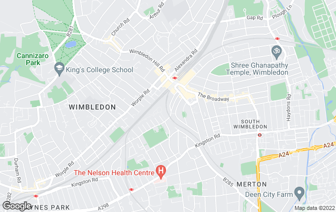 Map for SW19.com, Wimbledon Town