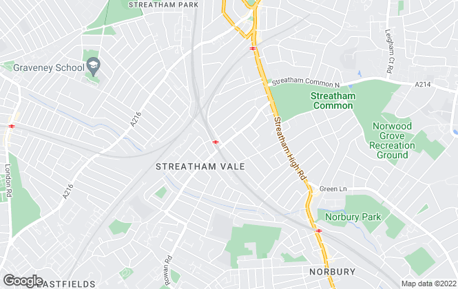 Map for Stevens Lettings and Management, Streatham