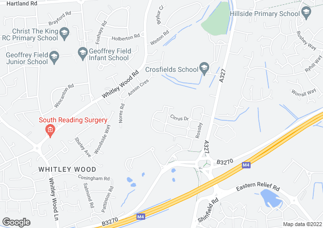 Map for Pascal Crescent, Shinfield, Reading, RG2