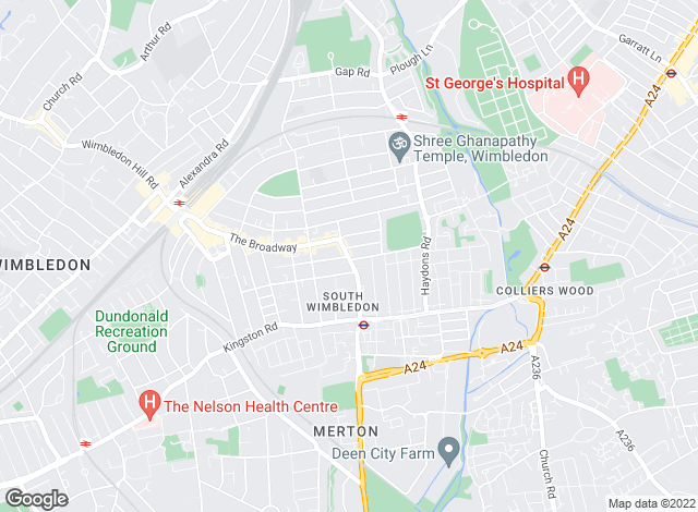 Map for allinthepostcode.com, SW19