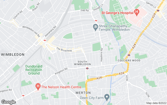 Map for SW19.com, South Wimbledon