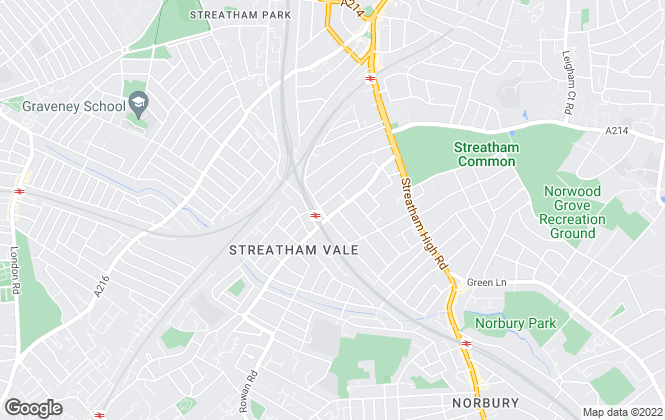 Map for SW16, Streatham