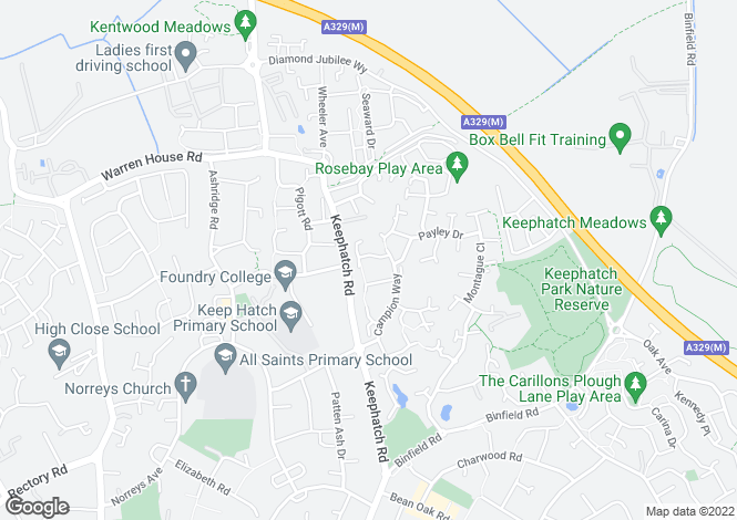 Map for Sorrel Close, Wokingham, RG40