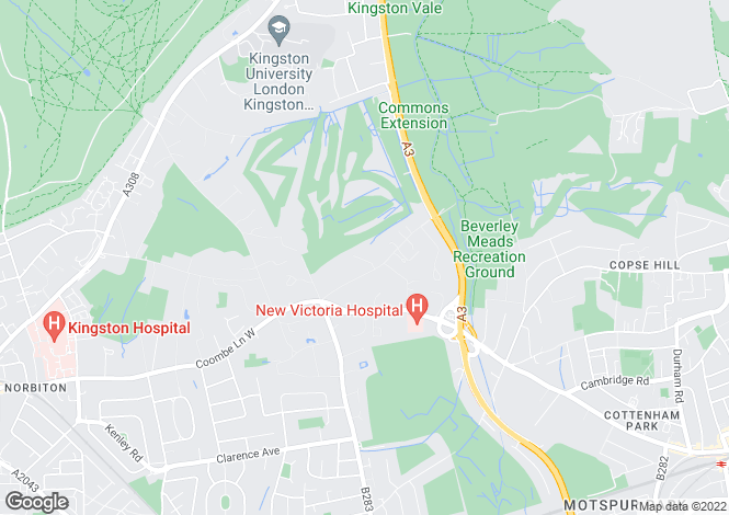 Map for Coombe Hill Road,
