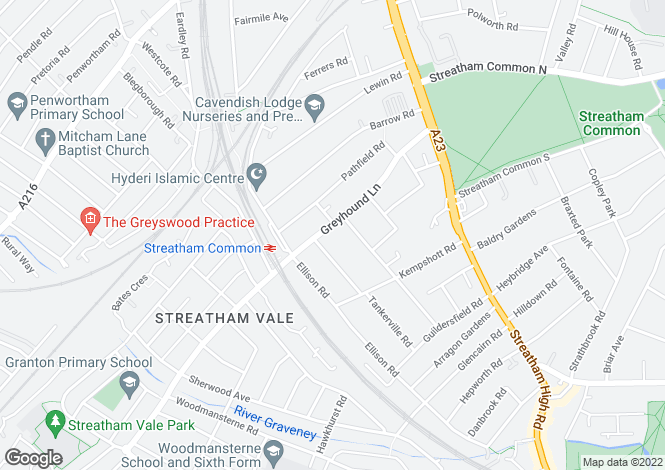 Map for Greyhound Lane, Streatham, London