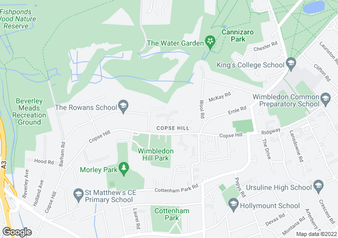 Map for Grange Park Place, Wimbledon