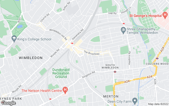 Map for eddisonwhite, Wimbledon