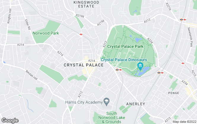 Map for iMove Property, Crystal Palace, London