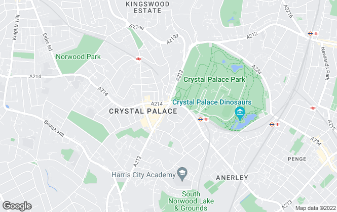 Map for Agent House, Crystal Palace