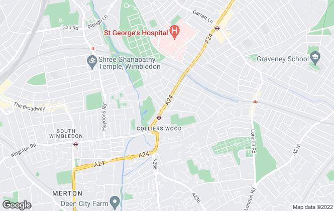 Map for Christopher St James, Colliers Wood