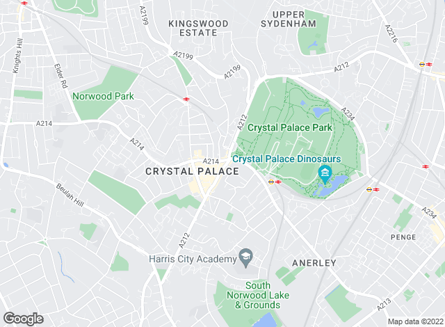 Map for Abode London Ltd, Crystal Palace