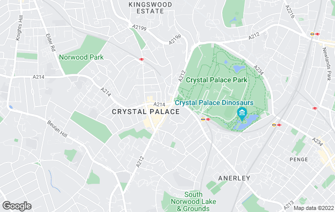 Map for Davis & Co, Crystal Palace