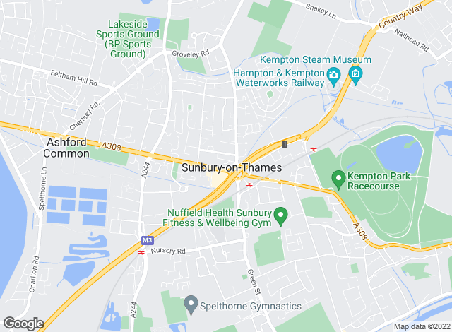 Map for Chancellors, Sunbury Lettings