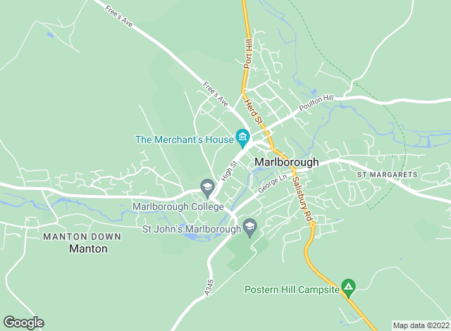 Map for Chesterton Humberts Lettings, Marlborough - Lettings