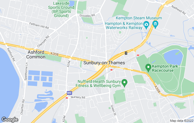 Map for Regents, Sunbury