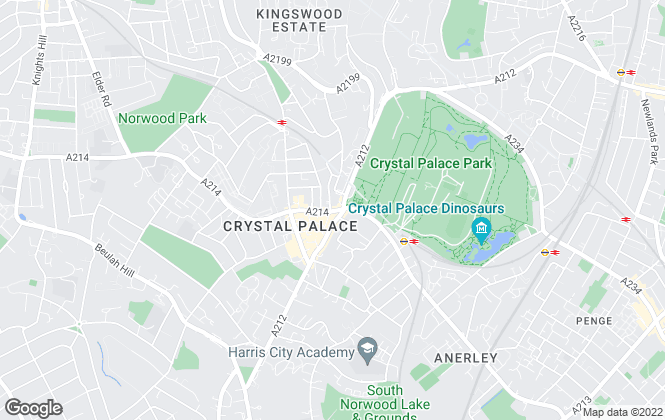 Map for Pedder, Crystal Palace