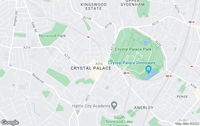 Map for Winkworth, Crystal Palace