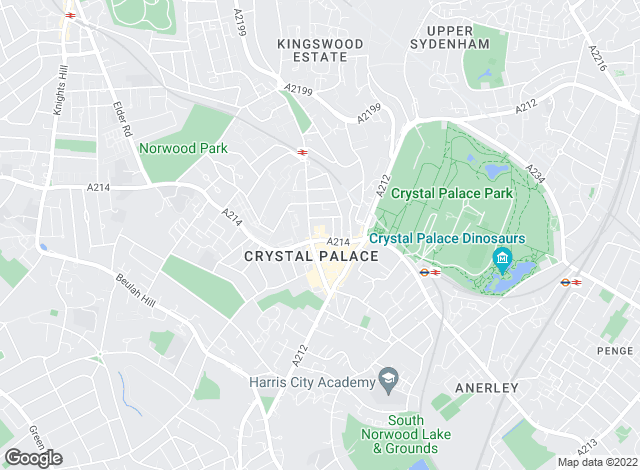 Map for Kinleigh Folkard & Hayward - Sales, Crystal Palace