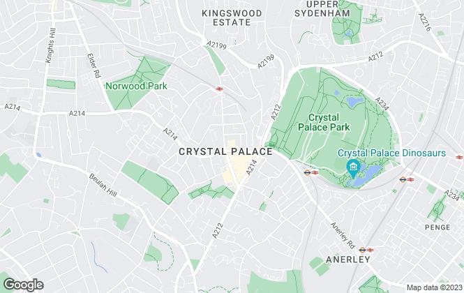 Map for Kinleigh Folkard & Hayward - Lettings, Crystal Palace