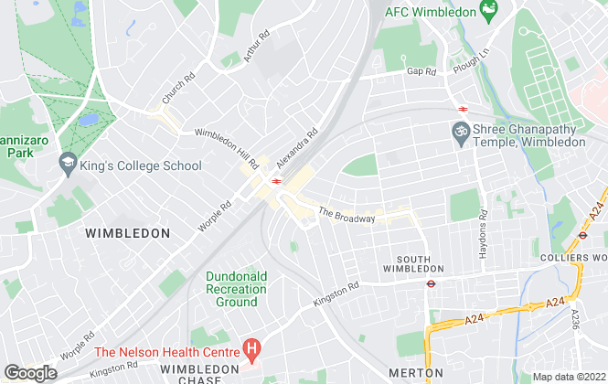 Map for Ellisons, Wimbledon