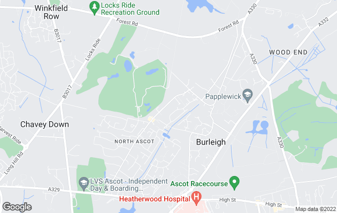 Map for Berkshires, Ascot