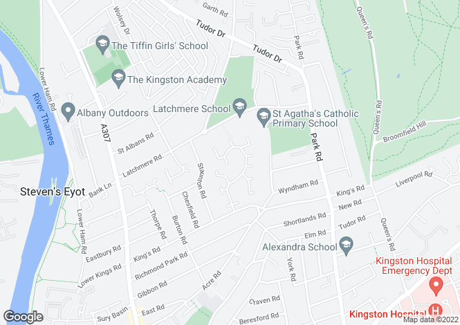Map for The Keep, Kings Road, Kingston Upon Thames, KT2