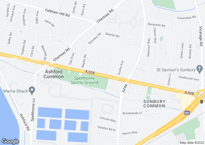 Map for Staines Road West,