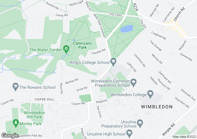 Map for Crooked Billet, Wimbledon