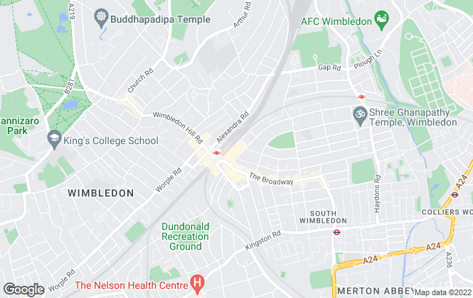 Map for Rentals And Sales, Wimbledon