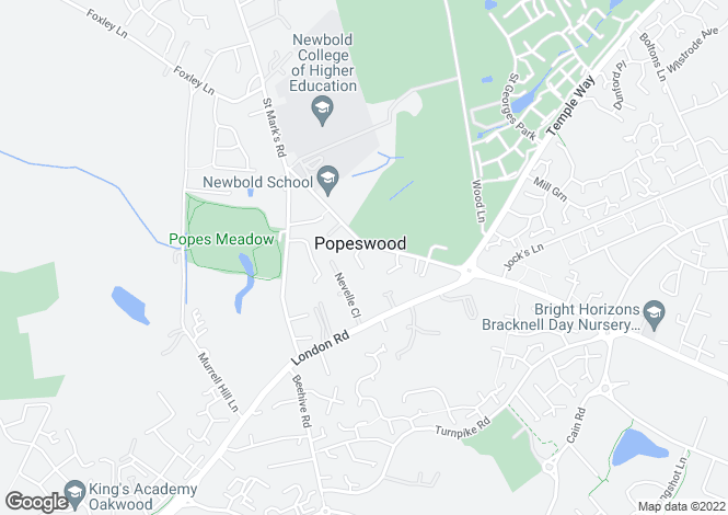 Map for Popeswood Road, Binfield, RG42