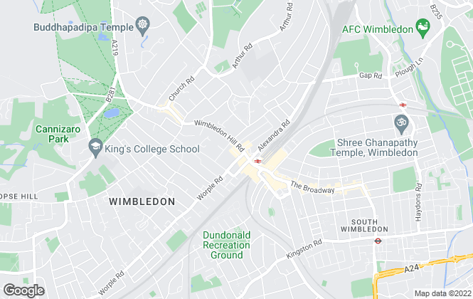 Map for andrew scott robertson, Wimbledon Hill - Sales