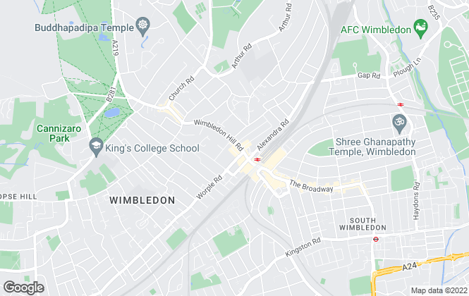 Map for Winchester White, Wimbledon