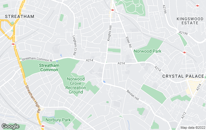 Map for Simon Ward Land & Property Specialists, Upper Norwood