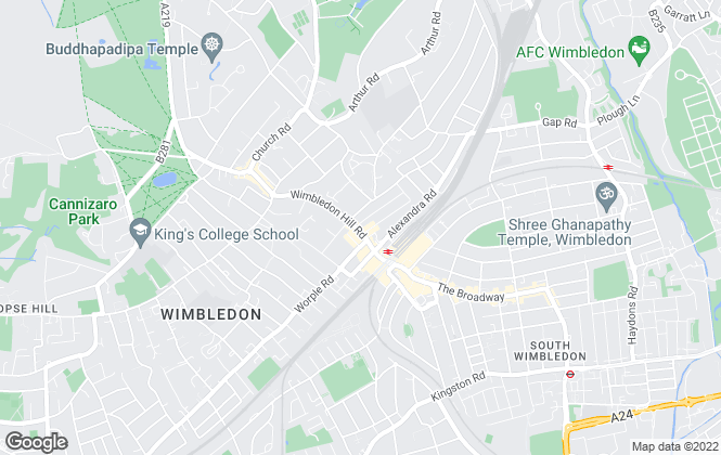 Map for ludlowthompson, Wimbledon