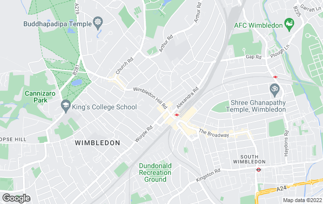 Map for Foxtons, Wimbledon