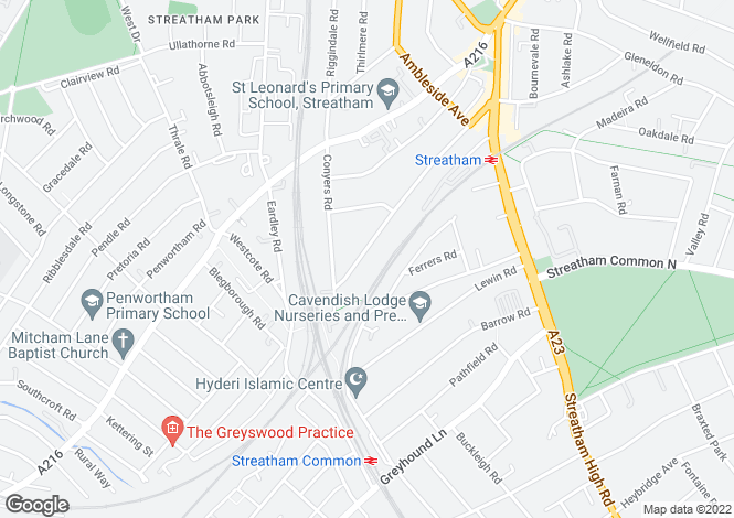 Map for Gleneagle Road, Streatham, London