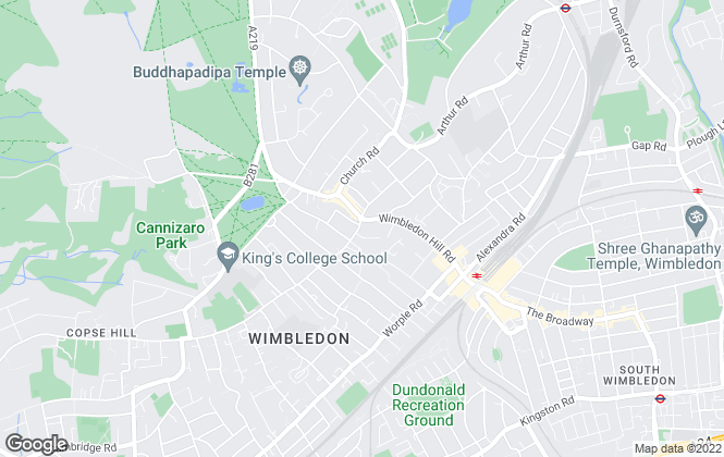 Map for Brinkley's Estate Agents, Wimbledon Village and Town Centre