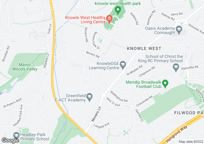 Map for Camberley Road, Knowle
