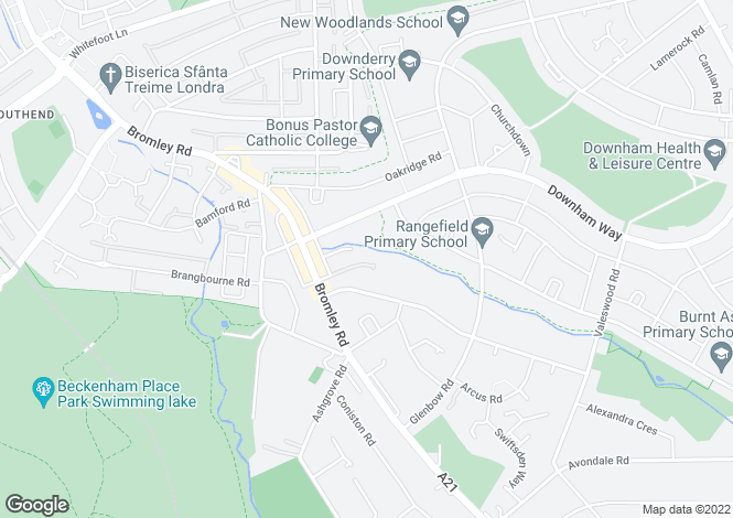 Map for Medhurst Drive, Bromley