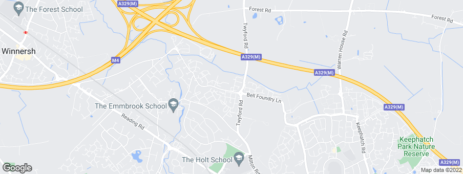 Map for Bovis Homes Thames Valley