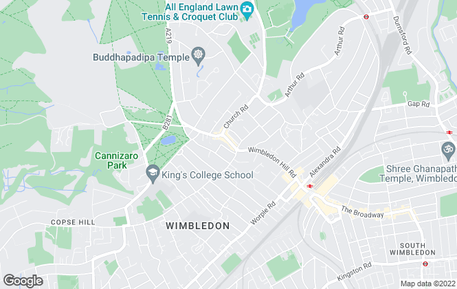 Map for andrew scott robertson, Wimbledon Village Commercial