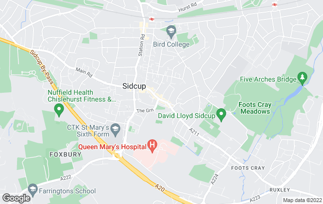 Map for Henry George Estates Group, Sidcup