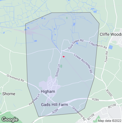 Map of property in Higham