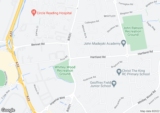 Map for Stoke Court, Hartland Road, READING